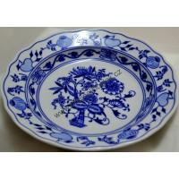 talíř  cibulák hluboký 21 cm český porcelán Dubí