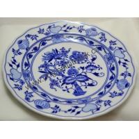talíř  cibulák  mělký 24 cm český porcelán Dubí