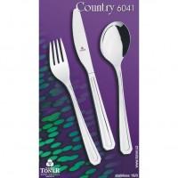 Příbory TONER Country sada jídelní 24 ks pro 6 osob nerez 6041