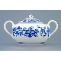 Víčko k cibulákové konvici na kávu 1,55 l originální cibulákový porcelán Dubí, cibulový vzor 1. jakost