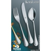 Lžíce jídelní  TONER Koral Gold zlacená 1 ks nerez 6038