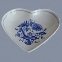 Cibulák mísa srdce  Český porcelán Dubí , cibulákový porcelán, 1.jakost