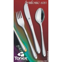 Nůž jídelní  TONER Symfonie Gold zlacený 1 ks nerez 6081